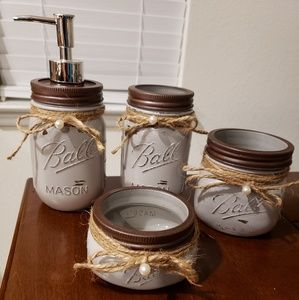 🔥New bathroom mason jar decor set🔥